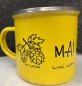 "Preview: ""MAI Haferl"" limited Edition *yellow*Emailletasse 12oz mit Silberrand"