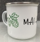 "Mobile Preview: ""MAI Haferl"" Emailletasse 11oz mit Silberrand"